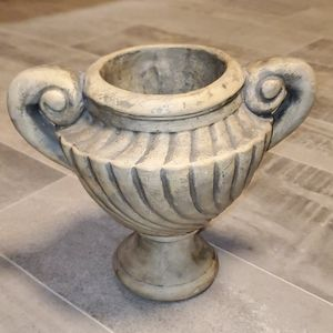 EUC Taupe Small Heavy Spiral Urn